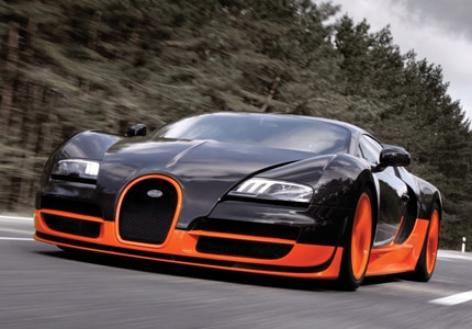 The Bugatti Veyron 16.4 Super Sport, one of GAYOT's Top 10 Fastest Cars Worldwide
