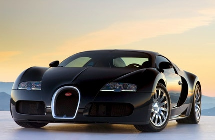 A three-quarter front view of the Bugatti Veyron 16.4