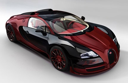 A three-quarter front view of the Bugatti Veyron 16.4 Grand Sport Vitesse La Finale