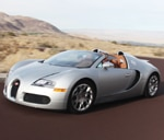 A three-quarter front view of a 2010 Bugatti Veyron 16.4 Grand Sport