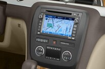 A view of the 2008 Buick Enclave AWD's navigation system