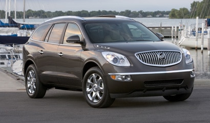 A three-quarter front view of a 2008 Buick Enclave AWD