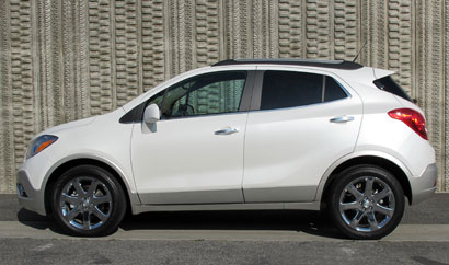 A side view of a 2013 Buick Encore Premium