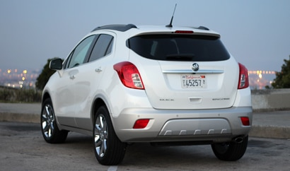 A three-quarter rear view of a 2013 Buick Encore