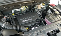 The 1.4-liter turbocharged inline 4-cylinder engine
