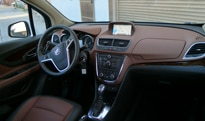An interior view of the 2013 Buick Encore Premium