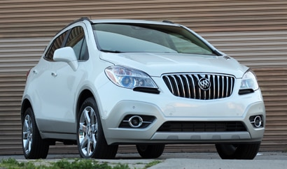 A three-quarter front view of a 2013 Buick Encore Premium