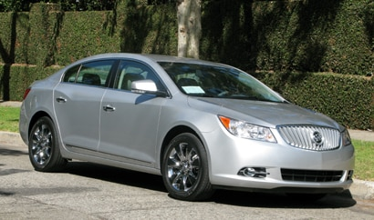 A three-quarter front view of a 2010 Buick LaCrosse CXS