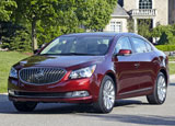 A three-quarter front view of a 2014 Buick LaCrosse
