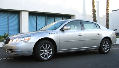 A three-quarter front view of a 2006 Buick Lucerne CXL V8