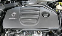 The turbocharged 4-cylinder engine of the Buick Regal CXL Turbo
