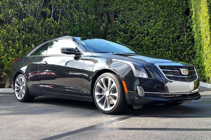 A three-quarter front view of the 2015 Cadillac ATS Coupe 2.0T