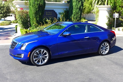 The Cadillac ATS Coupe, one of GAYOT's Top 10 Sports Coupes