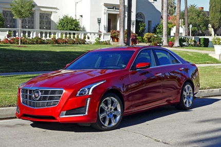 A three-quarter front view of the 2014 Cadillac CTS 2.0 Premium