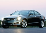 A three-quarter front view of a 2013 Cadillac ATS