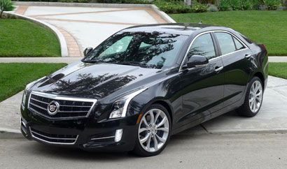 A three-quarter front view of the Cadillac ATS 2.0T Premium Collection