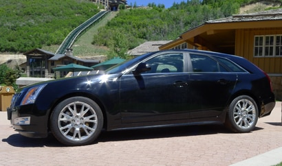 A side view of a Cadillac CTS-V Wagon