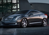 A three-quarter front view of the Cadillac ELR