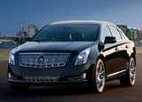 A three-quarter front view of a Cadillac XTS
