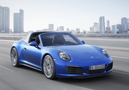 The 2016 Porsche 911 Targa 4, one of GAYOT's Top 10 Cars for Dads