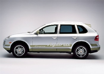 A side view of a Porsche Cayenne Hybrid