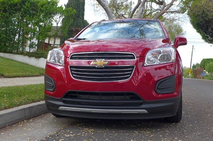 A front view of the Chevrolet Trax