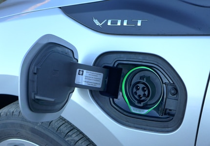 Charger port of the 2016 Chevrolet Volt Premier