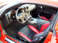 A front interior view of the 2007 Chevrolet Corvette Z06