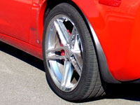 A view of the front tire of a 2007 Chevrolet Corvette Z06