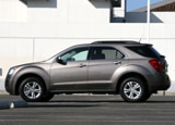 A side view of a 2010 Chevrolet Equinox