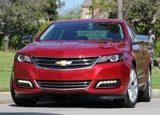 A front view of the 2014 Chevrolet Impala 2LTZ