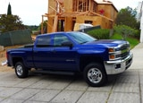 The 2015 Chevrolet Silverado 2500HD Bi-fuel is able to switch between gasoline and CNG fuels, giving it a long range and clean-air benefits.