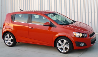 A side view of a 2012 Chevrolet Sonic