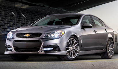 A three-quarter front view of the 2014 Chevrolet SS