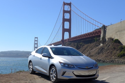 The 2016 Chevrolet Volt Premier in silver ice metallic
