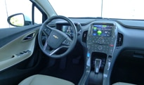 An interior view of the 2012 Chevrolet Volt