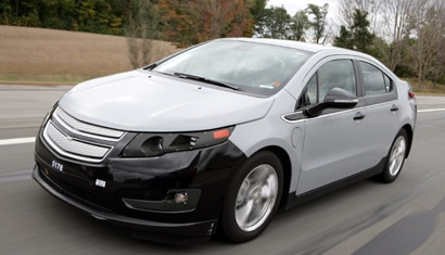 A pre-production Chevrolet Volt out for a test drive