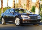 A three-quarter front view of a 2012 Chrysler 300C