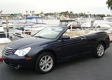 A three-quarter front view of a 2008 Chrysler Sebring Limited Convertible