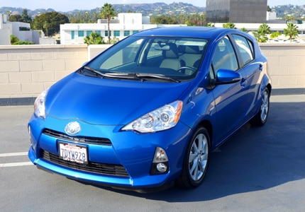 The Toyota Prius C Hybrid, one of GAYOT's Top 10 City Cars