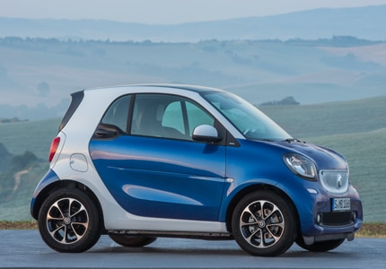 The smart fortwo pure, one of GAYOT's Top 10 City Cars