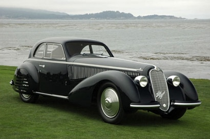 A 1938 Alfa Romeo 8C 2900B, one of GAYOT's Top 10 Classic Cars