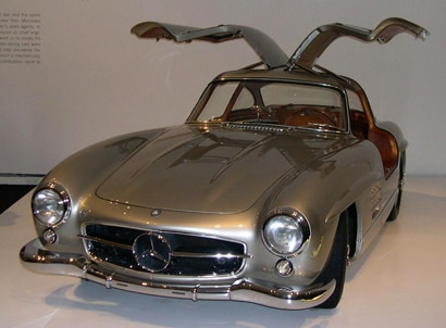 A front view of a 1955 Mercedes-Benz 300SL
