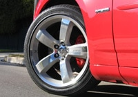 Dodge Charger SRT8 features 20-inch wheels and huge red brake calipers