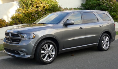 A three-quarter front view of a 2012 Dodge Durango R/T RWD
