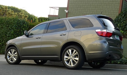 A three-quarter rear view of a Dodge Durango R/T