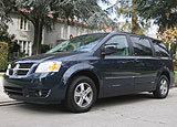 A three-quarter front view of a 2008 Dodge Grand Caravan