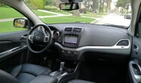 An interior view of the 2012 Dodge Journey Crew