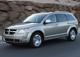 A three-quarter front view of a 2010 Dodge Journey