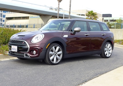 A three-quarter front view of a 2016 Mini Cooper S Clubman